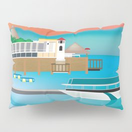 Jamaica - Skyline lllustration by Loose Petals Pillow Sham