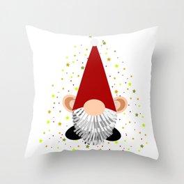 Santa - Gnome Throw Pillow