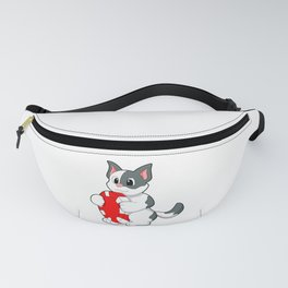 Cat with Poker chip Fanny Pack