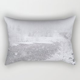 Light Snowfall Rectangular Pillow