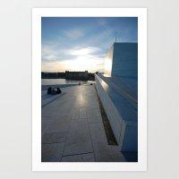 oslo Art Prints featuring Oslo by WattsvilleBlues