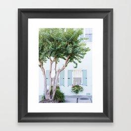 The Teal House - Charleston, SC Framed Art Print