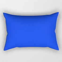NOW GLOWING BLUE solid color Rectangular Pillow