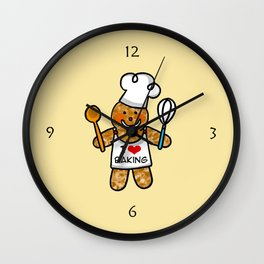Gingerbread man bakery cookie baker Wall Clock