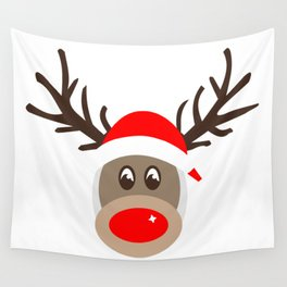 Rudolph Rednose Reindeer Wall Tapestry