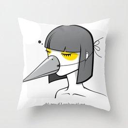 Mynah the Girl Throw Pillow