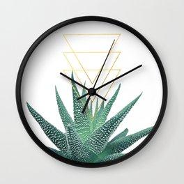 Succulent geometric Wall Clock