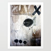 birdy Art Prints featuring birdy by woman