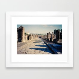 Faded Memories: The Streets of Pompeii Framed Art Print