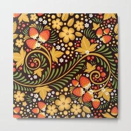 Native floral ornament Metal Print