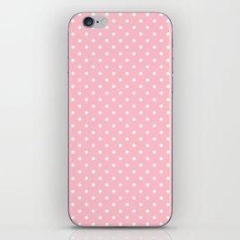Dots (White/Pink) iPhone Skin