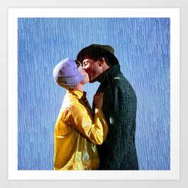 Singin' in the Rain - Blue Art Print