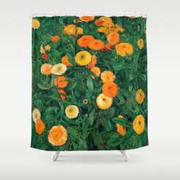 Marigolds by Koloman Moser, 1909 Shower Curtain