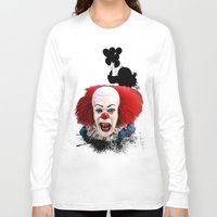 pennywise Long Sleeve T-shirts featuring Pennywise the Clown: Monster Madness Series by SB Art Productions