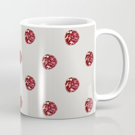 Pomegranates Grid Taupe Coffee Mug