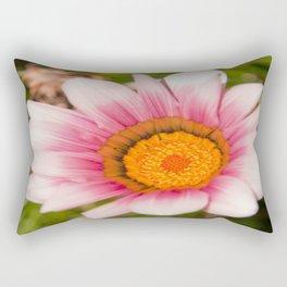 Southern African White ❁ Purple Gazania Flower Rectangular Pillow