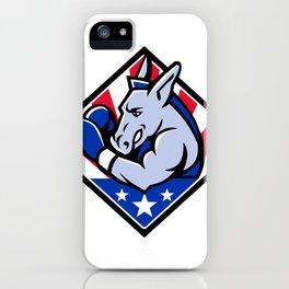 American Donkey Boxer USA Mascot iPhone Case