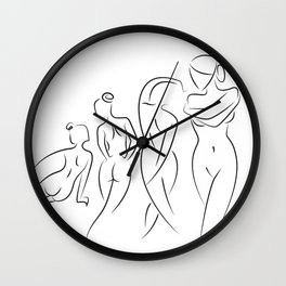 Ladies in Lines Wall Clock