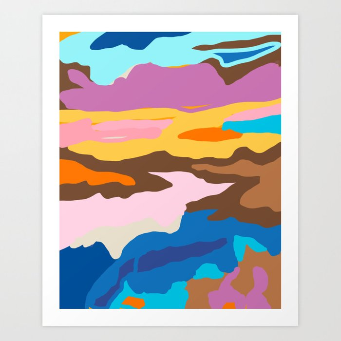 Shape and Layers no.19 - Abstract Modern Landscape Art Print