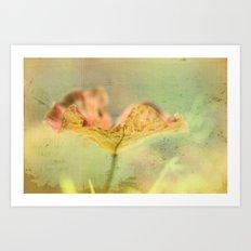 Faded Water Leaf  - JUSTART © Art Print