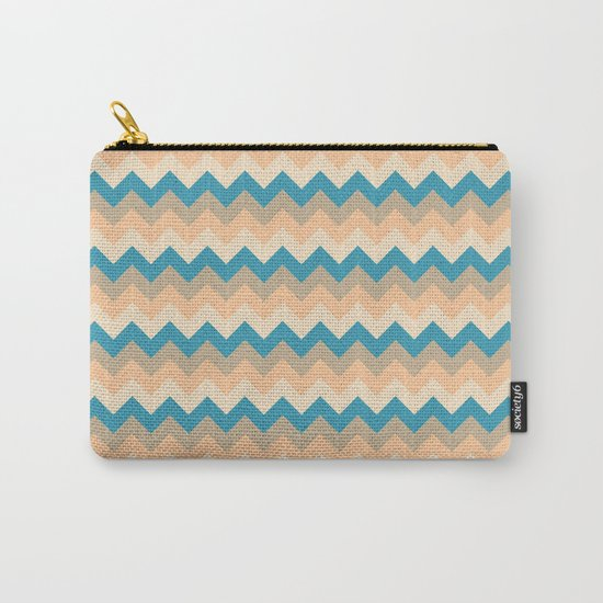 Colorful Chevron Pattern IV Carry-All Pouch