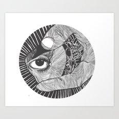 un œil andalou Art Print