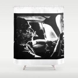 Bukowski's Sunday Drive Shower Curtain