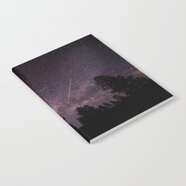 Busy Sky - Shooting Stars, Planes and Satellites in Colorado Night Sky Notebook