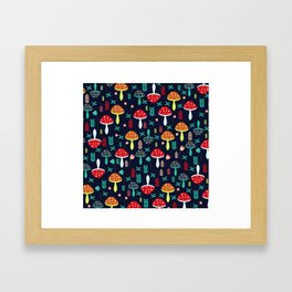 Multicolored mushrooms Framed Art Print