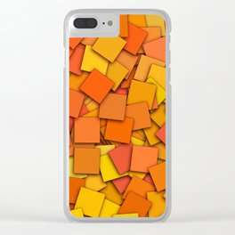 colorful squares Clear iPhone Case