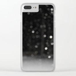 Bokeh Snowfall Clear iPhone Case