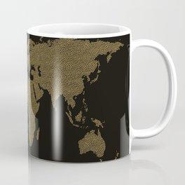 Golden world map Coffee Mug