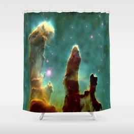 The Pillars of Creation in the Eagle Nebula (NASA/ESA Hubble Space Telescope) Shower Curtain