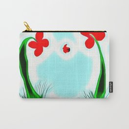 Two Flowers and a Lady Carry-All Pouch