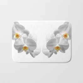 white orchid I Bath Mat