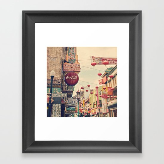 Chinatown (San Francisco) Framed Art Print