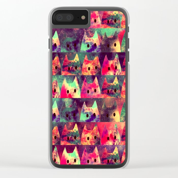 cats-131 Clear iPhone Case