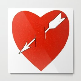 Heart and arrow. Metal Print