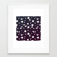 starry night Framed Art Prints featuring Starry Night by Oh Monday