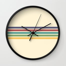 Minimal Abstract Retro Stripes 70s Style - Chichi Wall Clock