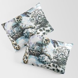 Little snow leopards Pillow Sham