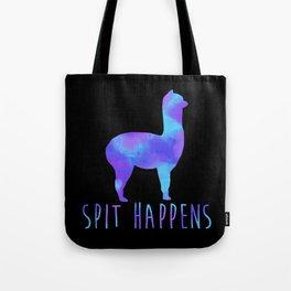Spit Happens Tote Bag