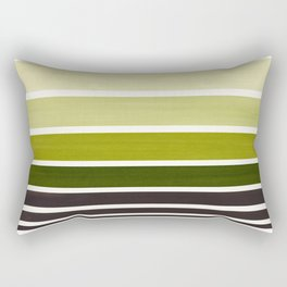 Olive Green Minimalist Watercolor Mid Century Staggered Stripes Rothko Color Block Geometric Art Rectangular Pillow