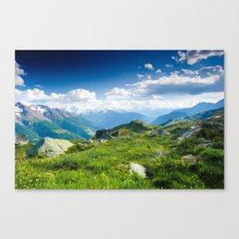Panorama from Fiescheralp Canvas Print