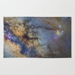 The Milky Way and constellations Scorpius, Sagittarius and the super big red star Antares. Rug