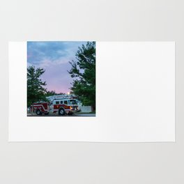 City of Thomson Georgia Firetruck Sunset Rug