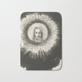 Odilon Redon - And in the disc of the sun the face of Christ shone Bath Mat