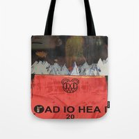 radiohead Tote Bags featuring Radiohead 20 by W. Keith Patrick