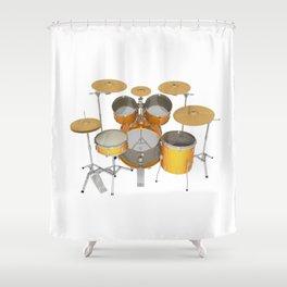 Yellow Drum Kit Shower Curtain