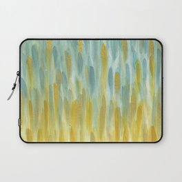 Blue and Gold; Rain Laptop Sleeve